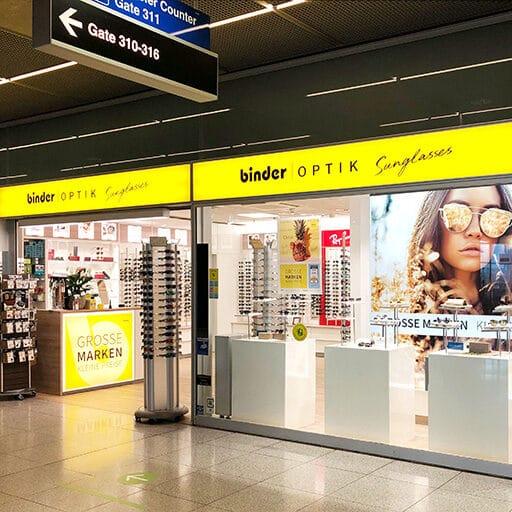 Binder Optik Sunglasses im Flughafen Stuttgart
