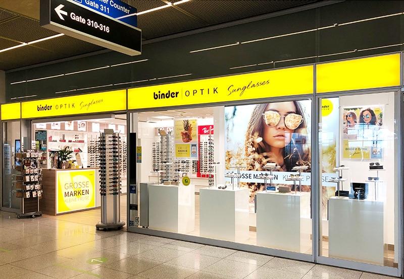 Fassade Binder Optik Sunglasses Flughafen Stuttgart